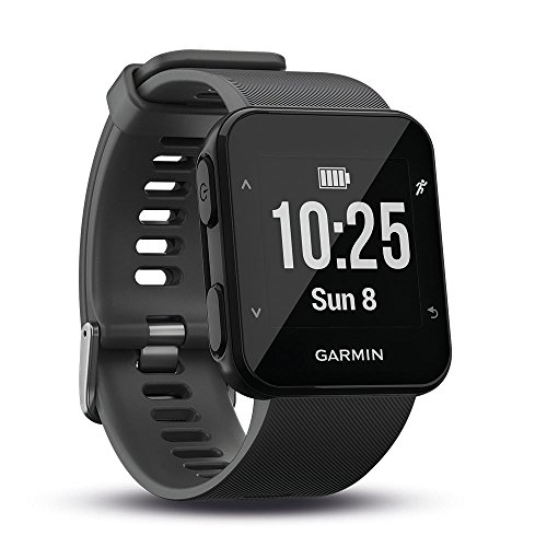Garmin Forerunner 30 GPS Running Watch with Wrist Heart Rate, Black (Slate)