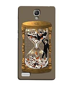 PrintVisa Designer Back Case Cover for Xiaomi Redmi Note :: Xiaomi Redmi Note 4G :: Xiaomi Redmi Note Prime (Graphic Clock Antique Creative Background Backcover)