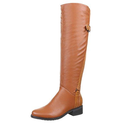Ital-Design, Bottes pour Femme Marron - Marrón - Camel H382