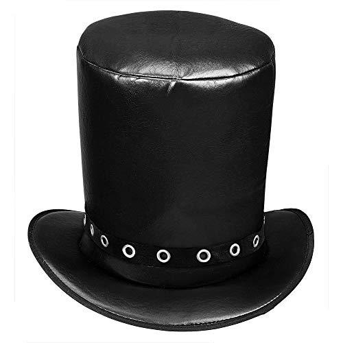 Sombrero alto de imitación de piel