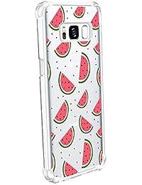 JEPER Funda Samsung Galaxy S8 S8 Plus Carcasa Silicona Transparente Protector TPU Airbag Anti-Choque Ultra-Delgado Anti-arañazos Sandía Caso para Galaxy Case Caja