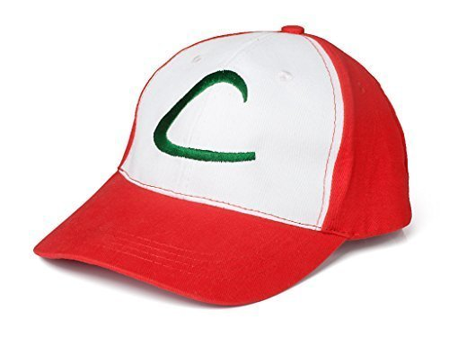 Visor Cap Cosplay Hat Pocket Monster Anime Collect mp001984 by AnimeGo (Ash Ketchum Cosplay)