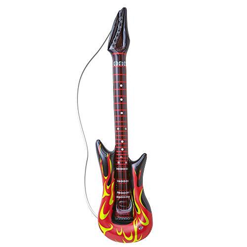 WIDMANN 04815 Aufblasbare Rockstargitarre mit Flammen Unisex– Erwachsene ()