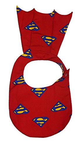 Wobbly Walk Baby Bib - Superhero Style (Red)