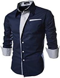 UD FABRIC Blue Cotton Party WEAR Slim FIT Shirts RED,Maroon,Black,Blue,White