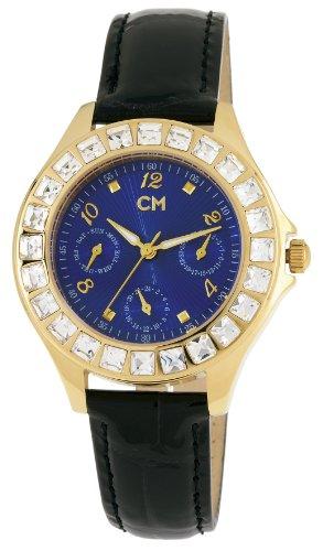 Carlo Monti CM503-232 - Reloj analógico de mujer de cuarzo con correa de piel negra - sumergible a 30 metros