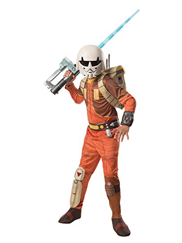 Wars Rebels Kostüm Star Ezra - Star Wars Rebels Ezra Kinderkostüm Deluxe Lizenzware braun orange S