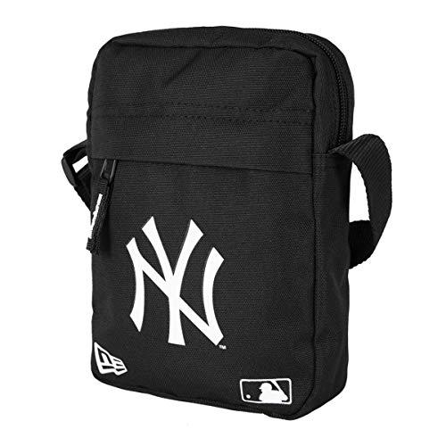New Era MLB Side Bag Umhängetasche NY YANKEES Schwarz Weiß, Size:ONE SIZE (York City New Handtaschen)
