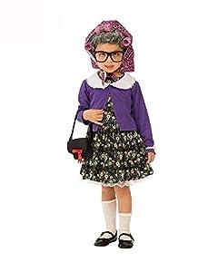 Rubies - Disfraz de pequeña mujer vieja para niña, talla 5-7 años (Rubies 510574-M)
