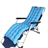 AGDLLYD Outdoor Sun Lounger Cushion Replacement Classic Garden Patio Thick Chair Recliner Relaxer Pad Soft and Comfortable (No Chair) (light blue,170 * 45 * 8cm)