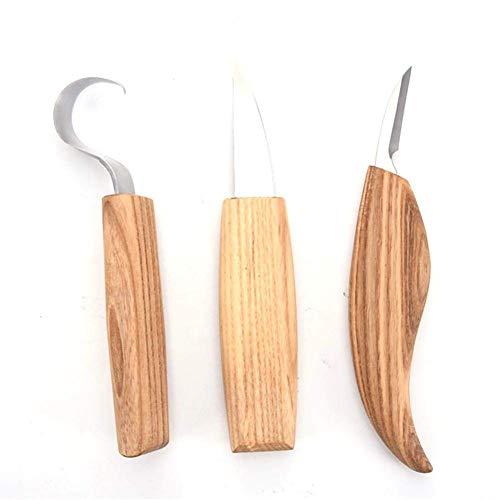 aus hochwertigem und strapazierf/ähigem Holz 12-teiliges Holzschnitzwerkzeug-Set