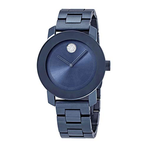 Movado Women's Bold 36mm Blue Steel Bracelet & Case Quartz Watch 3600494