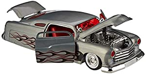 Dickie Toys 253745007 1951 Mercury Wave 2 - Vehículo con Rueda Libre, Jada Toys 20 años de Aniversario, Plateado y Metalizado Cepillado