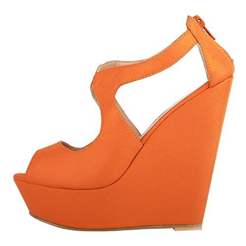 EKS , Escarpins femme Orange-matte