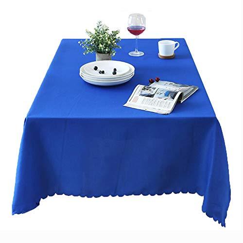Kswd hotel blu tovaglia, tovaglie rettangolare rotondo spesso ristorante occidentale festa tinta unita antivegetativa,a,180x260cm