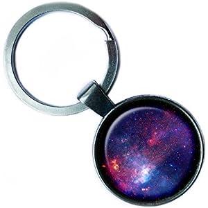 NASA Photograph Nebular Awe Nebel Foto Silver Keychain Silber Schlüsselanhänger