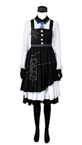 Dienstmädchen Danganronpa 3 Töten Harmonie Kirumi Tojo Maid Kleid Schwarz und Weiß Cosplay Kostüm Damen S
