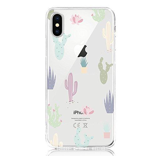 DAPP Funda iPhone X, Serie Dolce Vita carcasa transparente...