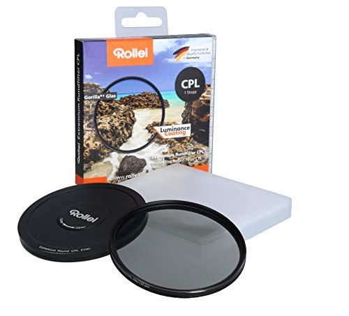 Rollei Extremium Rundfilter CPL 67 mm (1 Stopp) - Polarisationsfilter (Polfilter) mit Titan-Ring aus Gorilla Glas mit spezieller Beschichtung - Größe: 67 mm