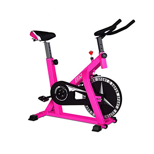 DorisAA-IB Ciclismo Indoor Cyclette Spinning Bike Home Mute Esercizio Indoor Sport Bike Auto Esercizio Bicicletta Fitness Bicicletta Trainer, Metallo, Rosa, 104x58x114cm