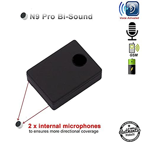 MINI GSM SPY BUG | Bi-Sound N9 PRO Listening Device GSM SIM CARD ✓ Audio Bugging | 2 sensitive MICROPHONES INTEGRATED | AUTO-CALL BACK Sound Detect | Hidden Eavesdropping Device
