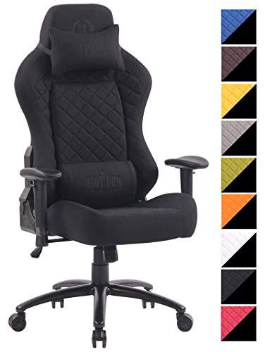 CLP Bürostuhl Rapid mit Stoffbezug I Schreibtischstuhl mit verstellbaren Armlehnen I Drehstuhl mit hochwertiger Polsterung schwarz/schwarz