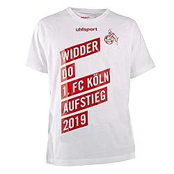 uhlsport Offizielles 1. FC Köln Aufstiegsshirt T-Shirt 2019 Widder DO Aufsteiger, Größe:XL