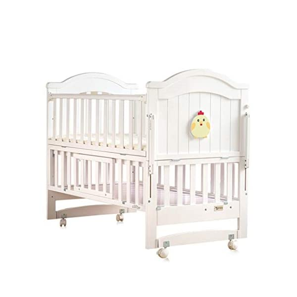 Love lamp Travel Cots Newborn Toddler Baby Crib Breathable Mesh Baby Anti-Collision Bed Bumper Protector Detachable Crib Liner Co-Sleeping Cots Love lamp Adjust the height of the mattress, because the baby can improve the activity and learn to sit up and have enough space to play and entertain, reliable and durable this is an essential equipment. ★ New upgraded multi-functional European crib, imported New Zealand pine, environmentally friendly water-based paint. ★Safe and environmentally friendly water-based paint, environmentally friendly, non-toxic, formaldehyde-free, and odor-free, so that every bit of your baby breathes healthy. 1