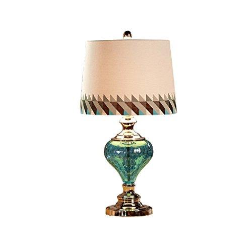 personnalité simple La Méditerranée Style Européen Lampe De Table Chambre Lampe De Chevet Moderne Simple Bleu Lampe De Table En Verre Creative Fashion (Couleur : 1)