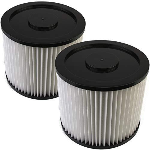 DeClean Filter Lamellenfilter,Luftfilter,Filterpatrone Ersatzteil für Nass-Trockensauger waschbar 2 Rundfilter Parkside PNTS Modelle: 1500 A1,B2, B3