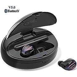 Écouteurs Bluetooth 5.0 Oreillette sans Fil Sport Etanche IPX 5 Intra-Auriculaires 90H Playtime Stéréo Hi-FI Mic HD Antibruit Démarrage Automatique Boîte de Charge 1500mAh pour iOS Samsung Huawei