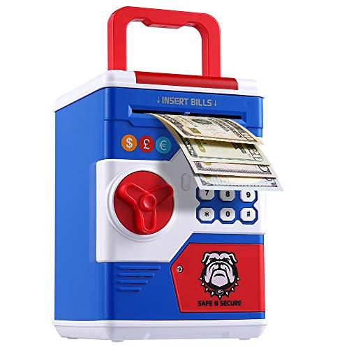 OYE HOYE Passwort Sparschwein für Jungen und Mädchen, elektronisches Passwort Geld Münze Bank Spielzeug mit automatischer Geldrolle, Geschenk für Weihnachten und Geburtstag