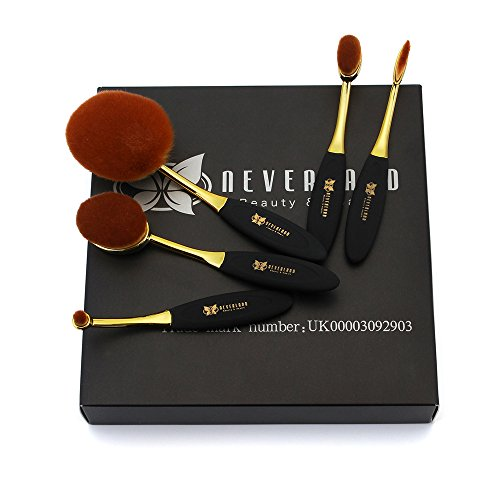 Neverland Beauty Pro Set 5 Spazzole da trucco Ovale Pennelli trucco insieme di spazzola cosmetico compone le spazzole di fusione Concealer dell'ombretto del sopracciglio Fondazione ombra polvere Cosmetici corredo di attrezzi