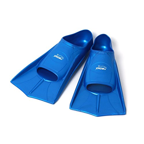 ZAOSU Unisex Training Fins | Kurzflossen für Erwachsene und Kinder fürs Training im Schwimmen, Größe:41/42, Farbe:blau