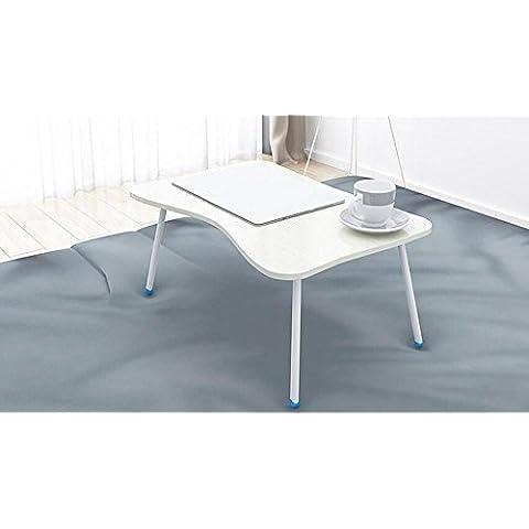 KHSKX Moda portatile tavolo pieghevole, tavolo multifunzione con letti, scrivania impermeabile dormitorio 60 * 40 * 29cm , d