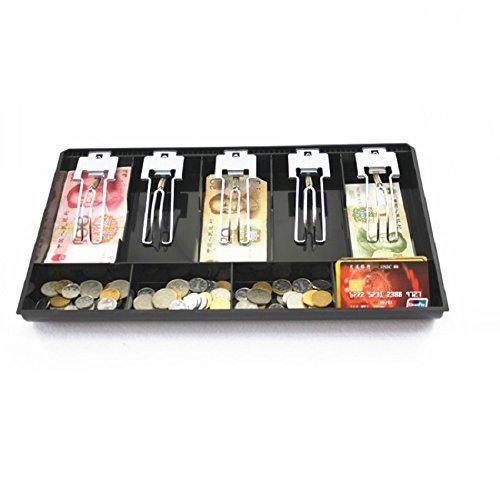 GUANHE Caja de caja registradora Nueva tienda Classify store Moneda de caja Monedero caja de cajón (5 compartimentos)