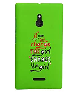 KolorEdge Back Cover For Nokia XL - Green (1910-Ke15134NokiaXLGreen3D)
