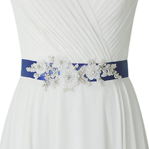 ULAPAN Hochzeitsgürtel dament,Brautkristallgürtel,brautgürtel blumen,brautkleid schärpe,S358