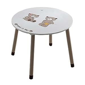 Ted lily table enfant avec motifs ø 60 cm