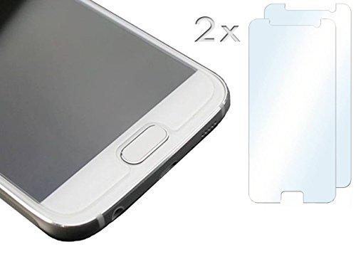 [PfX] 2-Stück Samsung Galaxy S7 Display Schutzfolien mit Zubehör für die Installation / 2er Set Samsung Galaxy S7 Panzerglas, vollkommen transparent und sicher