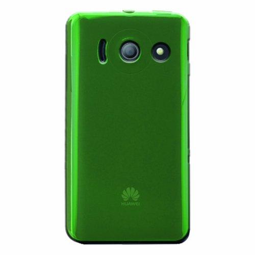 Phonix Gel Protection Plus Hülle mit Bildschirmschutzfolie für Huawei Ascend Y300 grün