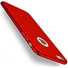 Funda iPhone 6/6s, Joyguard iPhone 6/6s Carcasa con [Protector de Pantalla de Cristal Templado Completo] [Ultra-Delgado] [Ligera] Anti-rasguños Estuche para Case iPhone 6/6s - 4.7pulgada - Rojo