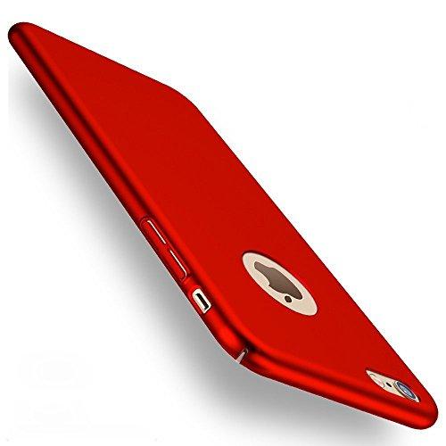 Joyguard Rückdeckel mit Gehärtetem Glas Displayschutz (Anti-Kratzer, 0,3mm dünn, geeignet für iPhone 6/6S) Rot