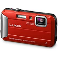 Panasonic Lumix DMC-FT30EB-R 16 MP 4x Optical Zoom Waterproof Action Camera - Red