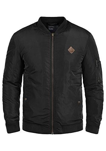 SOLID Park Herren Übergangsjacke Bomber-Jacke mit Stehkragen aus hochwertiger Materialqualität, Größe:L, Farbe:Black (9000)