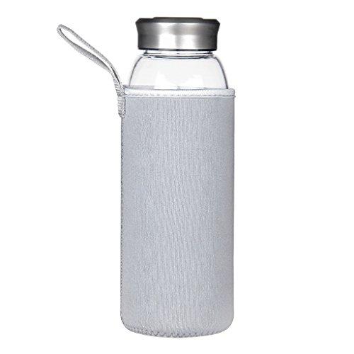 Justfwater Deporte Botella de Agua de Cristal 1000 ml / 1 L