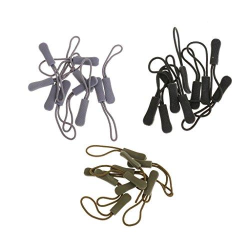 FLAMEER 30 Stücke Reißverschluss Anhänger Zipper Pull Tags Fixer Ersatz Zip Cord Puller Slider Jacke Taschen Cord-zip-jacke