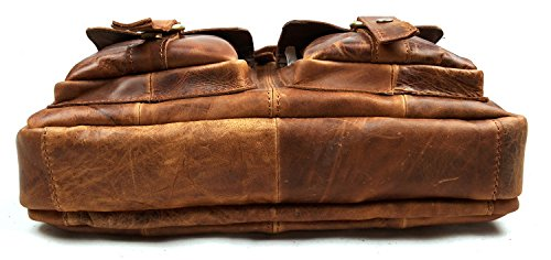 Cczimo , Borsa Messenger  Reddish Brown large Navy Brown