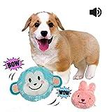Giochi per Cani Giocattoli di Peluche Palle Giocattolo Cigolio Giochi con Squeak Rimbalzo Automatico Palla Interattiva per Cani Cucciolo