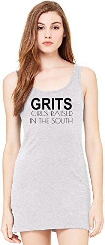 Grits Girls Raised In The South Funny Slogan Bella Basic ärmellose Tunika Sleeveless Tunic Tank Dress For Women| 100% Premium Cotton| X-Large (Drapieren South)